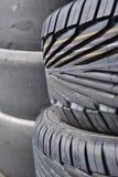 staplade gummihjul Royaltyfri Bild