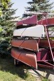 staplade kanoter royaltyfria bilder