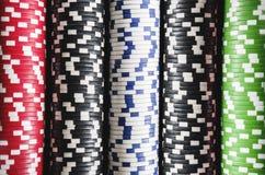 Staplade kasinochiper Arkivbild