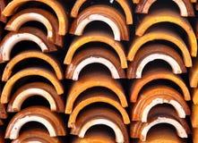 Staplade lager för taktegelplattor Royaltyfria Foton