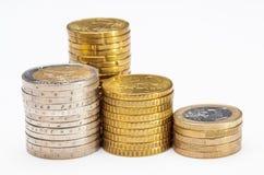staplade mynt Arkivfoto