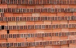 Staplade orange tegelstenar Royaltyfri Fotografi