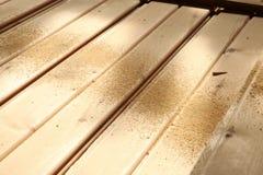 Staplade paletter av konstruktionsbråte Royaltyfria Bilder