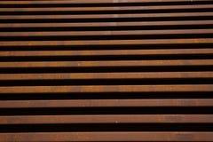 Staplade parallella järnväg linjer för stål lopp Fotografering för Bildbyråer