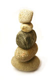 staplade pebbles royaltyfria bilder