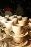 staplade teacups Fotografering för Bildbyråer