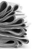 Staplade tidningar vikta och Royaltyfri Foto