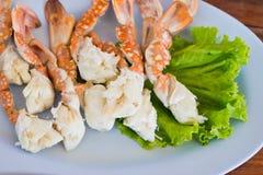 Staplar av krabbaben. Royaltyfri Foto