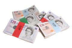staplar ett pund sterling Royaltyfria Foton