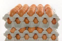 Staplat av ägg royaltyfria foton