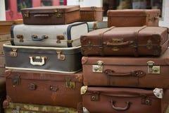 staplat bagage Fotografering för Bildbyråer