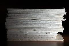 Staplat silkespapper Arkivbild