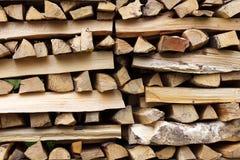 Staplat trä Arkivfoton