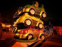 Staplat upp bilar 2 Arkivbild