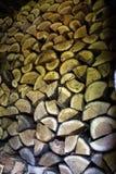 Staplat Wood avsnitt Royaltyfri Fotografi