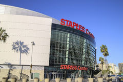Staple Center sport and entertainment Home of The Clippers and Lakers team. stock images