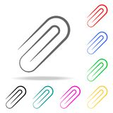 Staple clip icon. Elements of School and study multi colored icons. Premium quality graphic design icon. Simple icon for websites,. Web design, mobile app, info Royalty Free Stock Photography