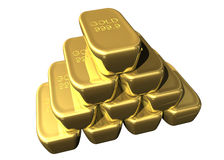 Staple of gold bars Stock Image