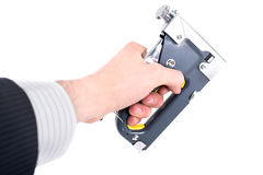Staple gun Stock Photo