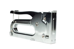 Staple gun isolated. On the white background Royalty Free Stock Photography