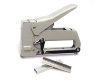 Staple gun with staples Royalty Free Stock Image