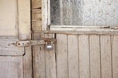 Staple and padlock Stock Image