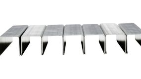 Staple pins Royalty Free Stock Image