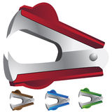 Staple Remover. Set of 3D images of a staple remover Stock Photo
