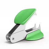 Staple remover back side. Staple remover back side  on white background. 3d render image Stock Image