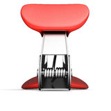 Staple remover back view. Isollated on white background. 3d render image Stock Image