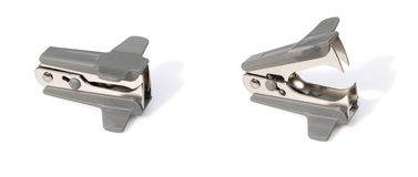 Staple remover close & open. With clipping path Royalty Free Stock Images