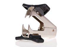 Staple remover isolated on white Royalty Free Stock Photos