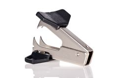 Staple remover isolated on white Stock Photos