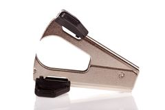 Staple remover isolated on white background Stock Photo
