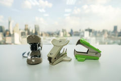 Staple remover and stapler set Royalty Free Stock Images