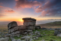 Staple Tor on Dartmoor Royalty Free Stock Photos