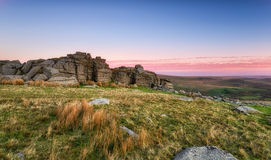 Staple Tor on Dartmoor Stock Photo
