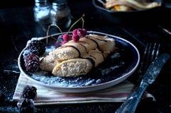 Staple of yeast pancakes Stock Photos