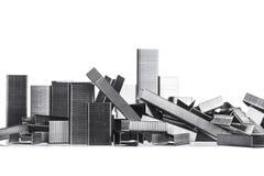 Staplecape в линии для того чтобы выглядеть как крошенный город Стоковые Фотографии RF