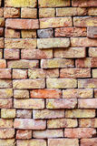 Stapled bricks give a harmonic pattern Stock Photo