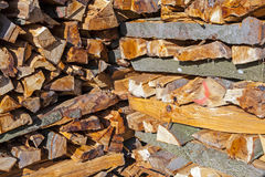 Stapled fire wood Stock Images