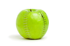 Stapled Green Apple Royalty Free Stock Image
