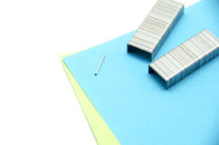 Stapled paper Stock Images