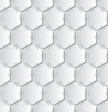 Stapled papers seamless pattern Stock Photos