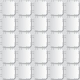 Stapled papers seamless pattern Royalty Free Stock Photos