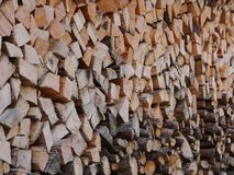 Stapled wood Royalty Free Stock Photos
