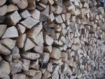 Stapled wood Royalty Free Stock Images