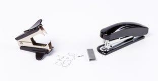 Stapler και antistapler με τις βάσεις Στοκ φωτογραφία με δικαίωμα ελεύθερης χρήσης