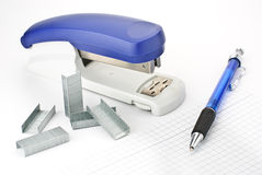 Stapler. A stapler isolated on a white background Royalty Free Stock Photo