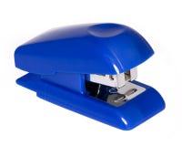Stapler. Blue stapler on a white background (isolated Royalty Free Stock Photo